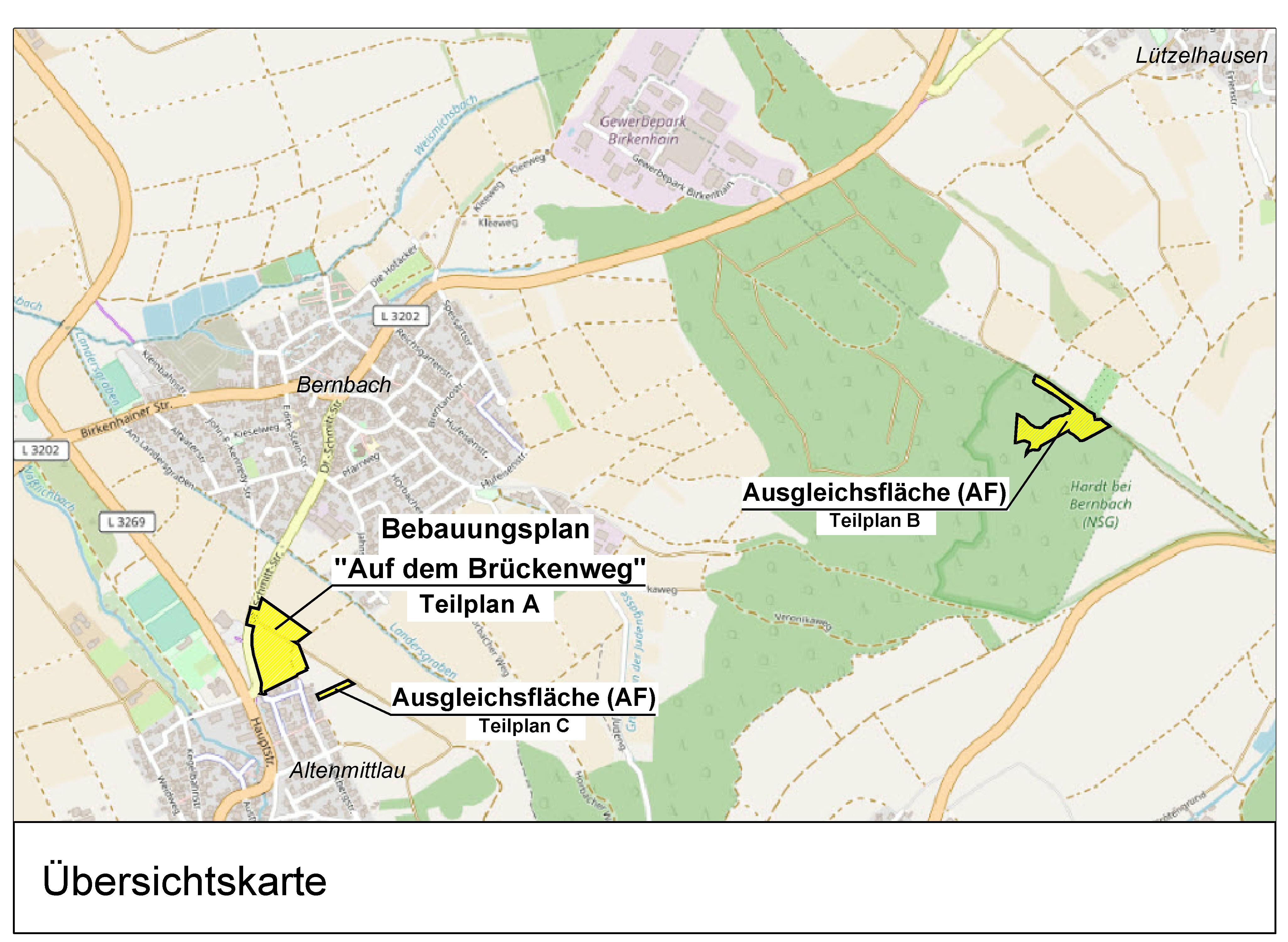 """Gemeinde Freigericht   Bebauungsplan Nr. 02-06-0 """"Auf dem Brückenweg"""""""