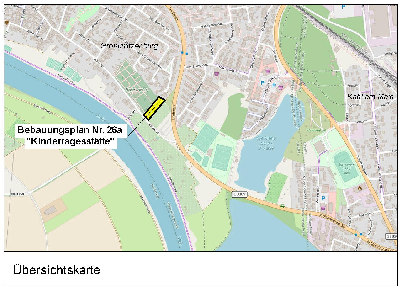 """Bebauungsplan Nr. 26a """"Kindertagesstätte"""" Gemeinde Großkrotzenburg"""