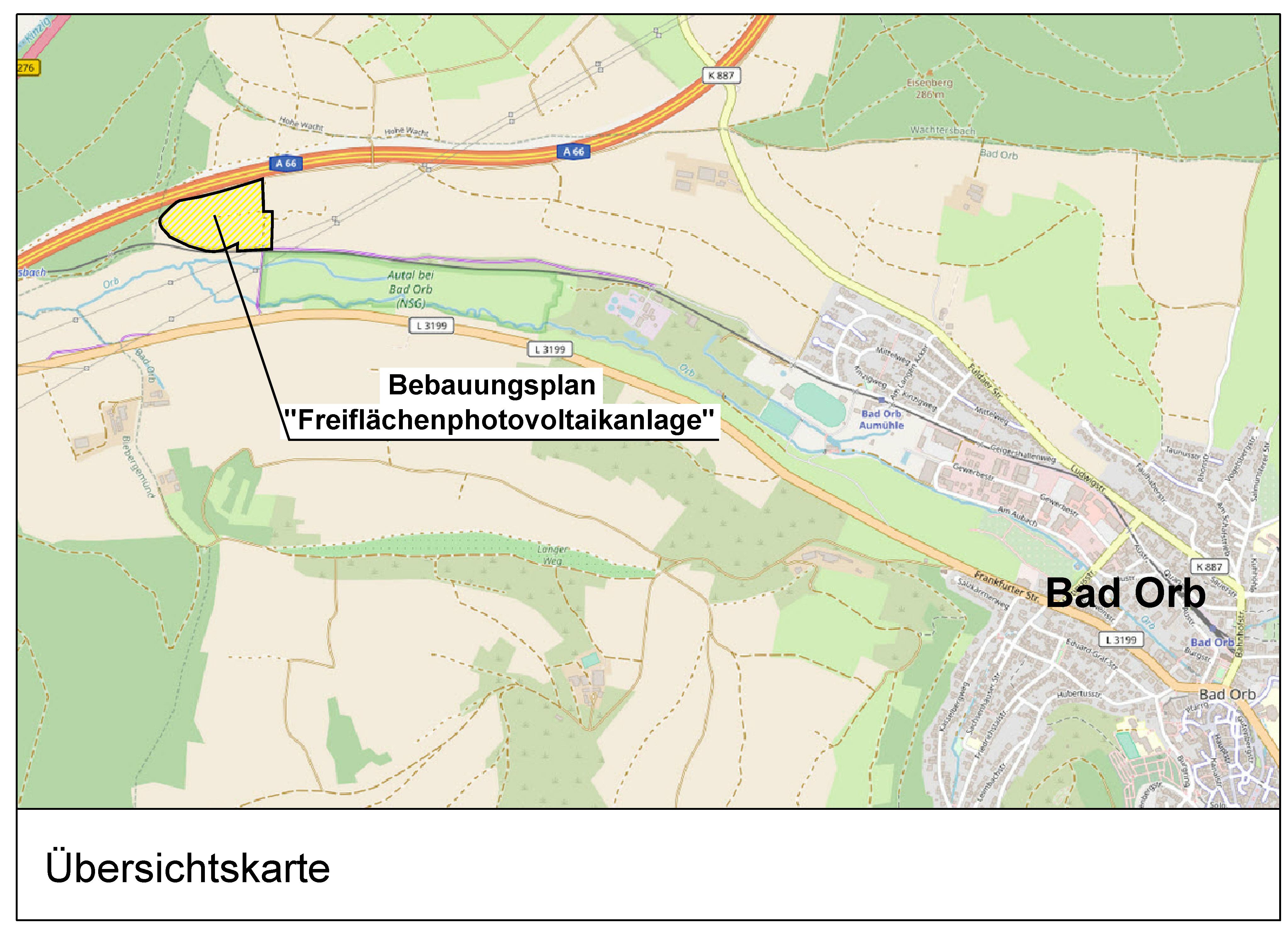 """Bebauungsplan """"Freiflächenphotovoltaikanlage"""" im Parallelverfahren mit der Änderung des Flächennutzungsplans der Stadt Bad Orb"""