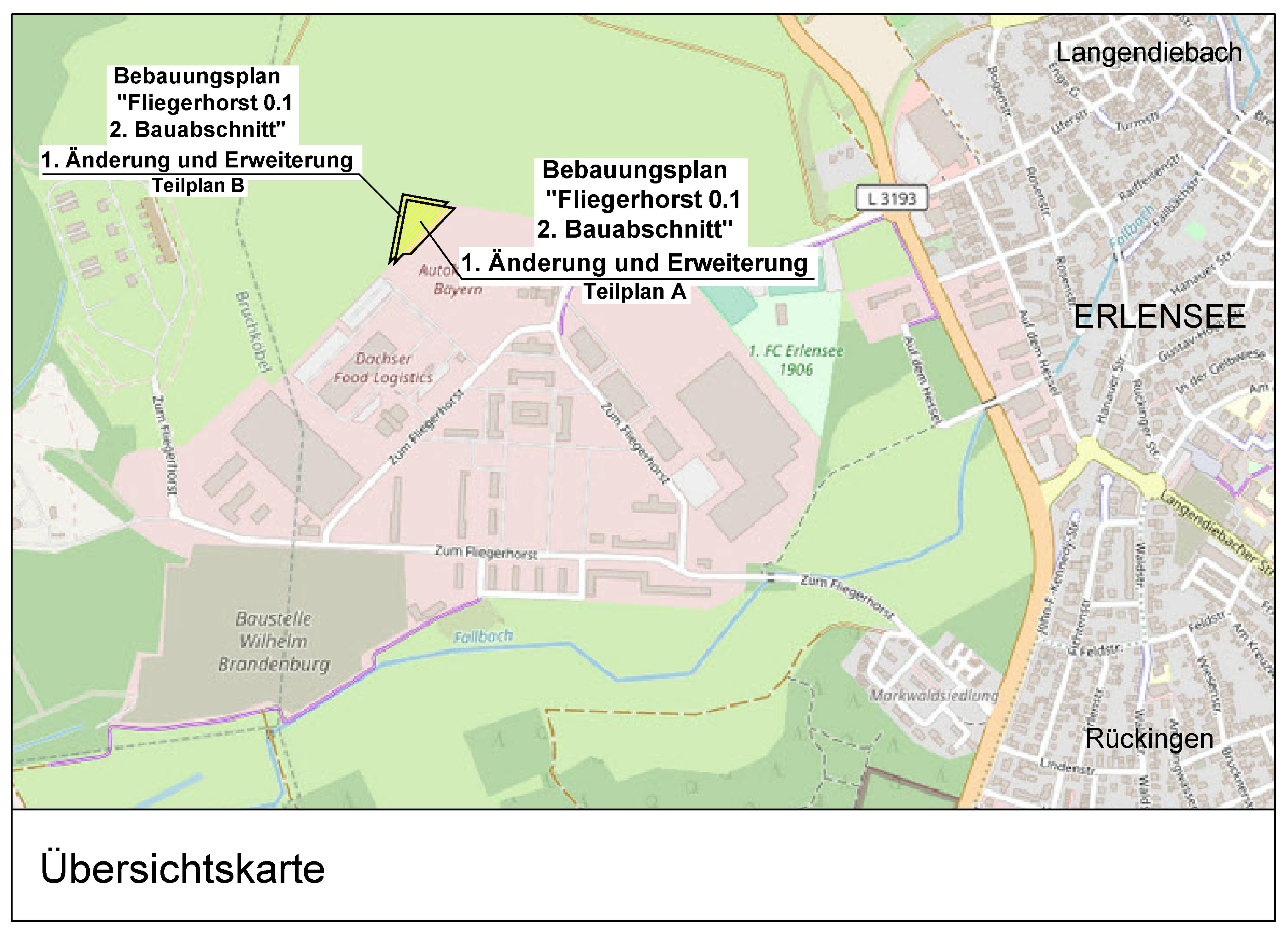 """Bebauungsplan """"Fliegerhorst 0.1, 2. BA, 1. Änderung und Erweiterung"""""""
