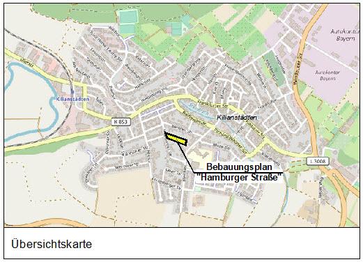 """Bebauungsplan """"Hamburger Straße"""" der Gemeinde Schöneck im Ortsteil Kilianstädten"""