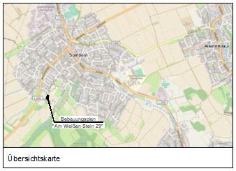 """Bebauungsplans Nr. 1-22-1 """"Am Weißen Stein 29"""", Gemeinde Freigericht / OT. Somborn."""